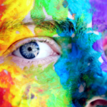 rainbow makeup - canva