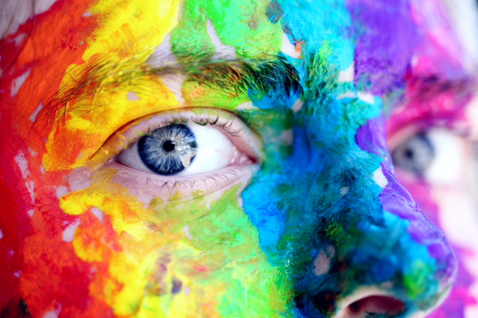 rainbow makeup - canva